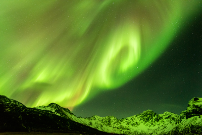 Aurora photograph in Lofoten