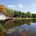 Architecture and landscape - the Somerset Earth Science Centre.